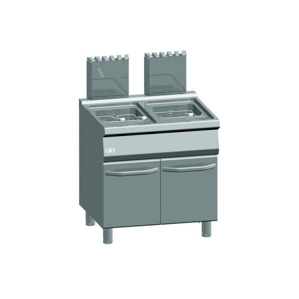 ATA friteuse op gas 15+15 liter   De Kopermolen