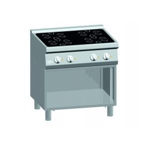 Kooktafel ATA keramisch 4-zones + open onderstel