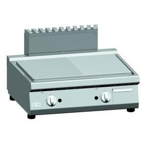 Bakplaat (ribbel/spiegel) op gas ATA dubbel tafelmodel