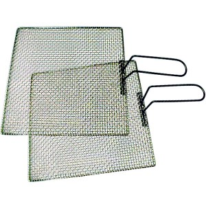 Frying screens with handles