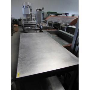 Werktafel RVS met tussenblad