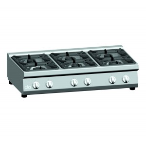Kooktafel ATA 6-pits tafelmodel (power branders)