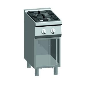 Kooktafel ATA 2-pits + open onderstel