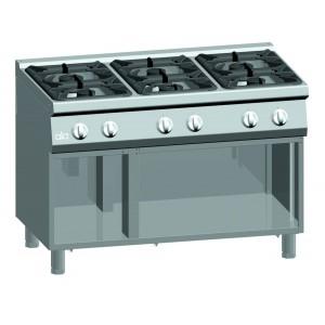 Kooktafel ATA 6-pits + open onderstel