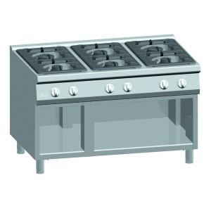 Kooktafel ATA 6-pits + open onderstel (power branders)